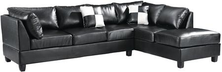 Glory Furniture G640 Collection Sectional Sofa with Cushion Back, Reversible, Removable Back and PU Leather Upholstry in