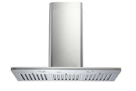 "Kobe Premium RA223XSQB1 XX"" Wall Mount Range Hood with 750 CFM, ECO Mode, Bright LED Light, and Baffle Filters in Stainless Steel"