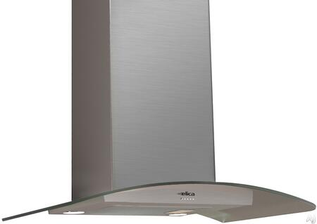 Elica EPT43 Comfort Series Potenza Chimney Hood with 400 CFM Internal Blower, Dishwasher-Safe Aluminum Mesh Filter, Push Button Controls, 3 Fan Speeds, and 2 Halogen Lights: Stainless Steel