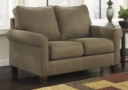 Signature Design by Ashley 2710X37 Zeth Twin Sleeper Sofa with Rolled Arms, Tapered Feet and Upgraded Mattress in