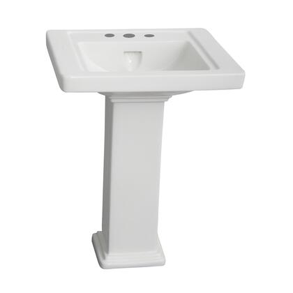 Barclay 389 Empire Collection Vitreous China 600 Pedestal Lavatory with Overflow