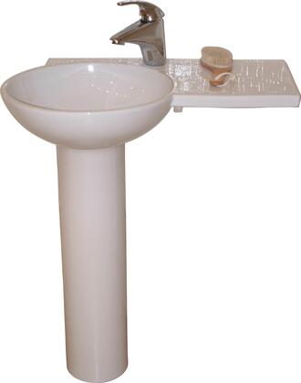 Barclay 3X371WH Gina Collection Pedestal Lavatory with Vitreous China Column and Fire Clay Basin: