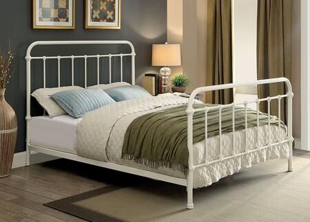 Furniture of America CM7701WHEK Iria Series  Eastern King Size Bed