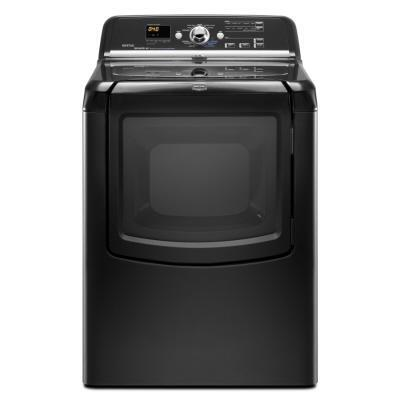 """Maytag MEDB850W Bravos 29"""" Electric Dryer with 7.3 cu. ft. Capacity, 9 Drying Cycles, 5 Temperature Settings, Steam Enhanced Cycles and GentleBreeze Drying System with IntelliDry Sensor,"""