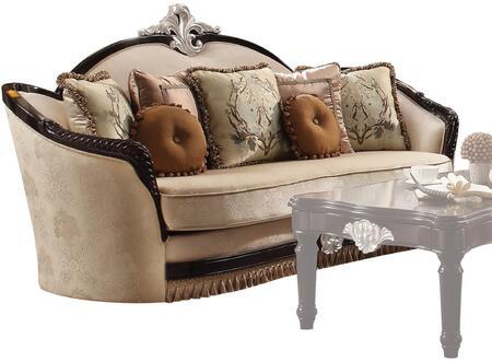 Acme Furniture Ernestine Fabric Sofa 52110 Tan And Black