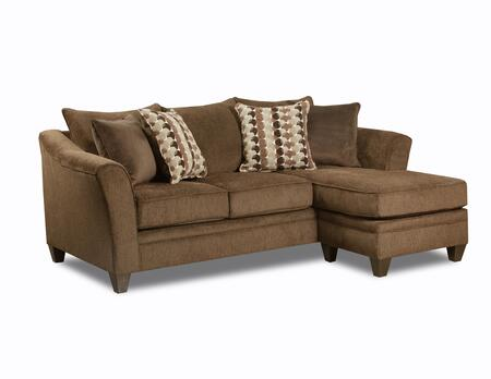 Simmons upholstery 648503scalbanychestnut albany series for Albany saturn sectional sofa chaise