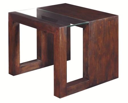 Allan Copley Designs 3050302L Dado Series Contemporary Square End Table