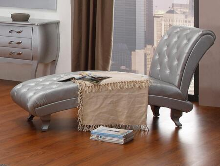 VIG Furniture VGKCMONTECHPLATINUM Divani Casa Monte Carlo Series Modern  Chaise Lounge