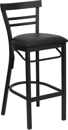 "Flash Furniture HERCULES Series XU-DG6R9BLAD-BAR-XXV-GG 31"" Heavy Duty Ladder Back Metal Restaurant Bar Stool with Vinyl Seat, Commercial Design, Foot Rest Rung and Plastic Floor Glides"