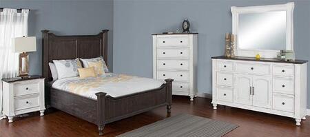 Sunny Designs 2308ECQBDM2NC Carriage House Queen Bedroom Set
