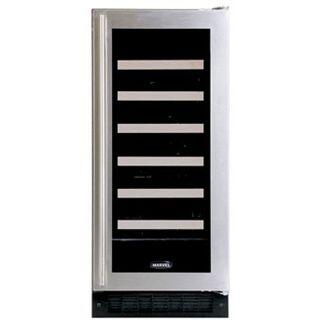 "Marvel 30WCMWWGR 14.875"" Built-In Wine Cooler, in White Frame Glass Door"
