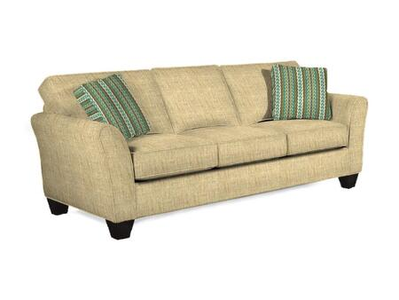 "Broyhill Maddie Collection 6517-3QX 87"" Sofa with Fabric Upholstery, Flared Arms, Piped Stitching and Contemporary Style in"