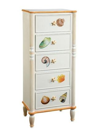 Gail's Accents 40009CH Shoreline Series Wood Chest