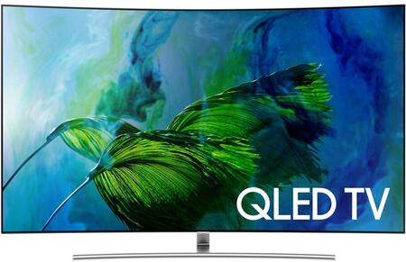Samsung QNx5Q8CAMFXZA Q8C QLED 4K Curved TV with Quantum Dots, 4K Ultra HD Resolution, 240 Motion Rate, and Smart Hub, in Black