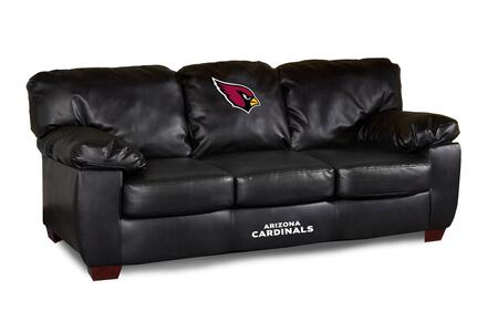 Imperial International 79-40 NFL Themed Classic Black Leather Sofa