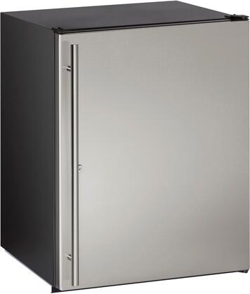 """U-Line UADA24Rx13B 24"""" ADA Series Freestanding or Built In Compact Refrigerator with 5.3 cu.ft. Capacity, 4 Wire Shelves, Field Reversible Doors, Right Hinge, with Door Lock, Automatic Defrost, Energy Star Certified Star K Certified, Adjustable Shelves in"""