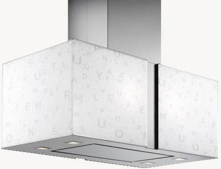 Futuro Futuro ISMURALFA Murano Alfa Island Mount Chimney Style Range Hood with 940 CFM Internal Blower, Halogen Lights, Dishwasher-safe Mesh Filter, and Delay Shut-Off Timer, in Stainless Steel