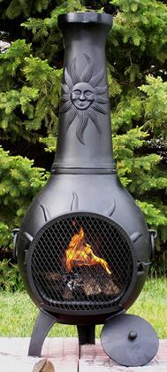The Blue Rooster Company ALCH029GKLP Gas Powered Sun Stack Chiminea Outdoor Fireplace - Liquid Propane