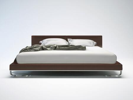 Modloft MD331CKPLM Chelsea Series  California King Size Platform Bed