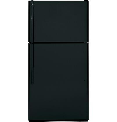 "GE GTS22KBPBB33"" Freestanding Top Freezer Refrigerator with 21.7 cu. ft. Total Capacity 1 Glass Shelves 6.35 cu. ft. Freezer Capacity"