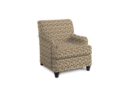 "Bassett Furniture Townsend Collection 1132-02/BEx 30"" Accent Chair with Fabric Upholstery, Piped Stitching, Turned Wood Legs and Contemporary Style in"