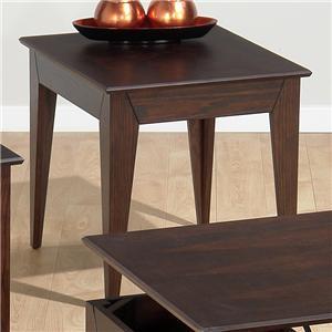 Jofran 4013 Transitional Rectangular 0 Drawers End Table