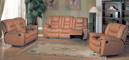 Yuan Tai FR4400BRSET3 Leather Living Room Set