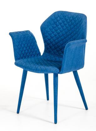 VIG Furniture VGEUMC8160CHA Modrest Astoria Series Modern Fabric Metal Frame Dining Room Chair