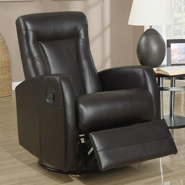 Monarch I8082BR Transitional Bonded Leather Wood Frame Rocking Recliners