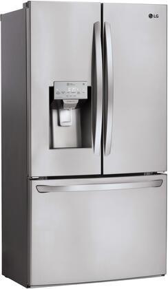 LG LFXC22526S 36 Inch Counter Depth French Door Refrigerator, in