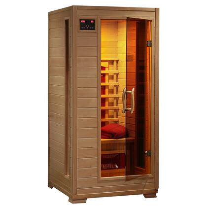 HeatWave SA2 Buena Vista 1 Person Sauna with Interior Reading Lights and Built-in Sound Systems
