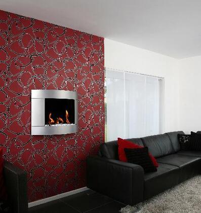 Bio-Blaze BBD24851SIL Wall Mountable Bioethanol Fireplace
