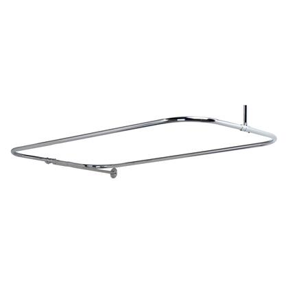 """Barclay 4152 x 24"""" Rectangular Shower Rod with Side Wall Support in"""