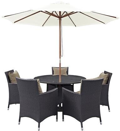 Modway EEI2193EXPMOCSET Round Shape Patio Sets