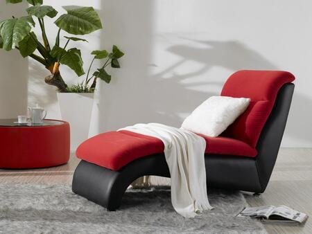VIG Furniture VGDM2910 Magenta Series Modern Fabric Wood Frame Chaise Lounge