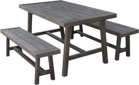 Admirable Vifah V1819Set1 Ocoug Best Dining Table And Chair Ideas Images Ocougorg