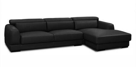 Diamond Sofa CHICAGORFSECTB Chicago Series  Sofa