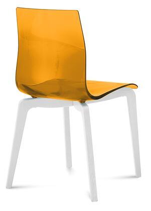 Domitalia GELSLSFLBOSSAR Gel Series Transitional Wood Frame Dining Room Chair