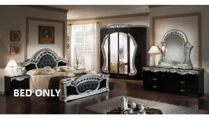 VIG Furniture VGACROCOCOBLKQ Modrest Rococo Series  Queen Size Panel Bed