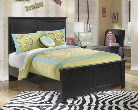 Milo Italia BR-217BED Cantrell Collection Size Panel Bed: Solid Black Finish