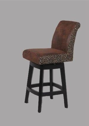 Chintaly 0289CS Residential Faux Leather Upholstered Bar Stool