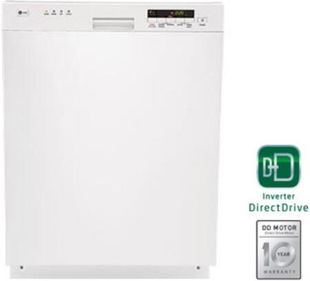 "LG LDS4821WW 24"" Built-In Semi-Integrated Dishwasher"