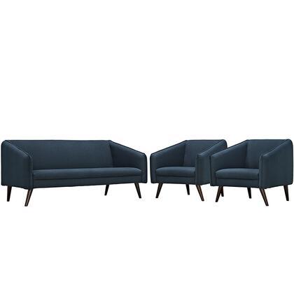 Modway EEI2451AZUSET Contemporary Fabric Living Room Set