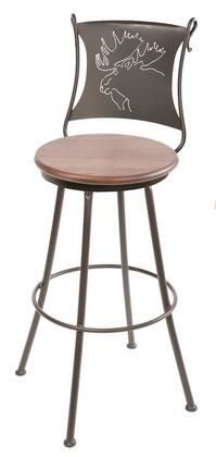 Stone County Ironworks 904001FAUXRCO Bull Moose Series  Bar Stool