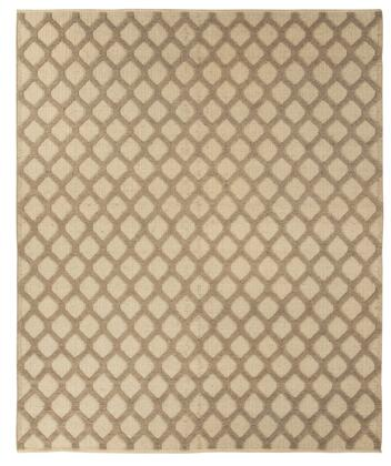 "Milo Italia Alannah RG417450TM "" x "" Size Rug with Gate Trellis Design, Hand-Woven and Jute Material in Natural Color"
