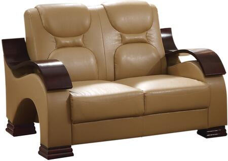 Glory Furniture G481L Faux Leather Stationary Loveseat