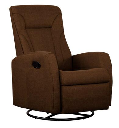 Dezmo D88598MLR Push Button Recline, Glider and Swivel, Arm Chair in Micro-Fiber Fabric