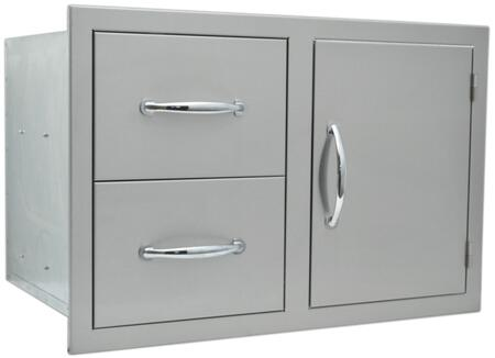 Angled View of the Double Door, Drawer Combo