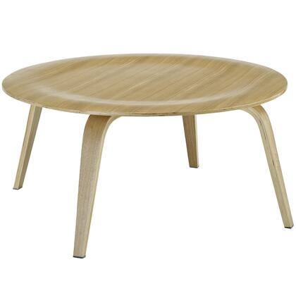 """Modway EEI-509 34"""" Coffee Table with Contemporary Design, Durable Molded Plywood, Hardwood Center, and Sturdy Construction"""
