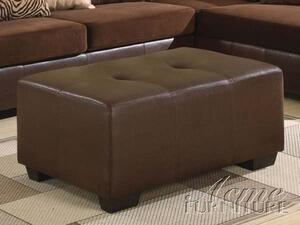 Acme Furniture 05092 Hillsborough Series Contemporary Leather Ottoman